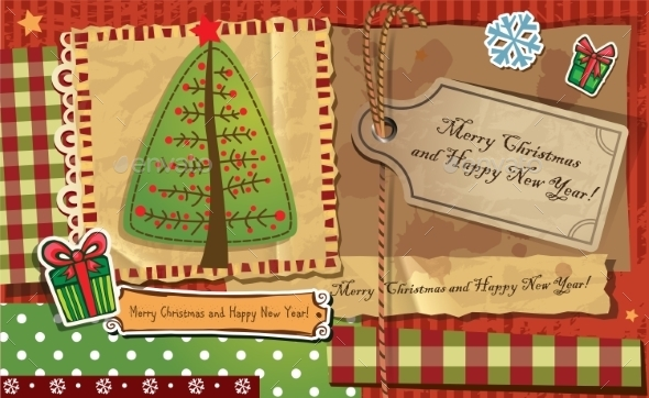 GraphicRiver Scrapbook Christmas Greeting Card 9879652