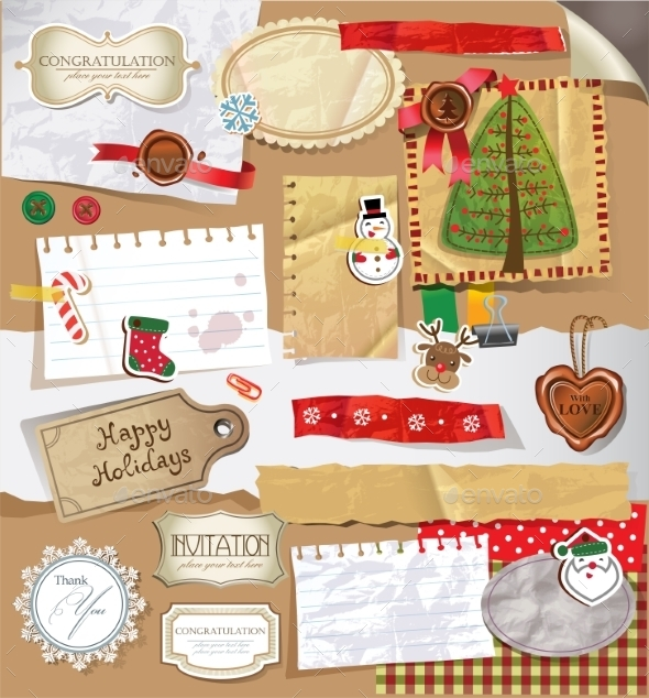 GraphicRiver Scrapbook Set 9879686