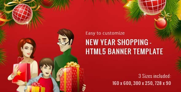 CodeCanyon New Year Shopping HTML5 Banner Template 9879717