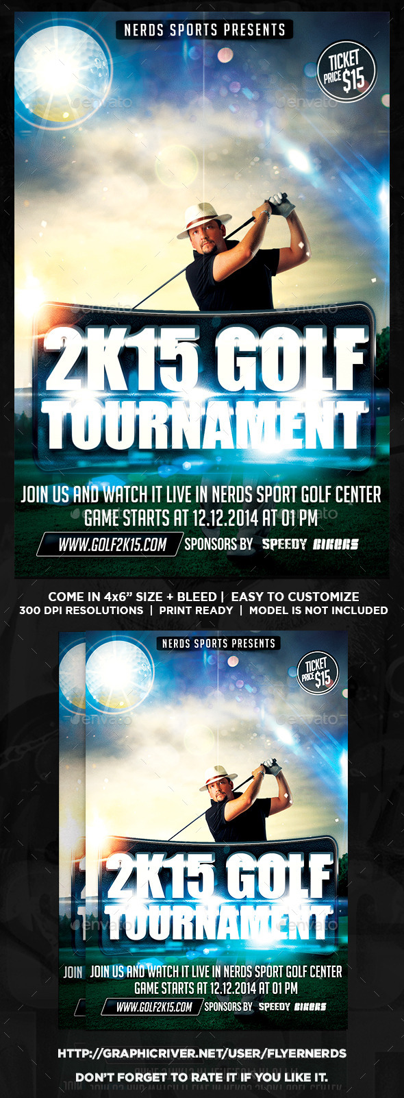 GraphicRiver Golf Competition 2K15 Sports Flyer 9879771
