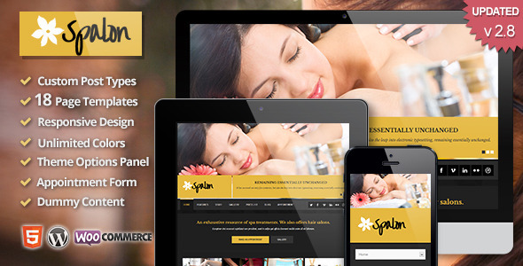 Spalon - Responsive WordPress Theme - Health & Beauty Retail