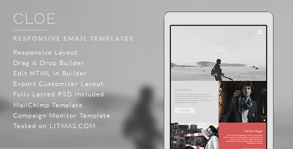 ThemeForest Cloe Responsive Email Template & Builder Access 9882387