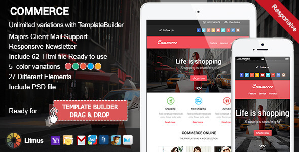 ThemeForest Commerce Responsive Email & Template Builder Acces 9891535