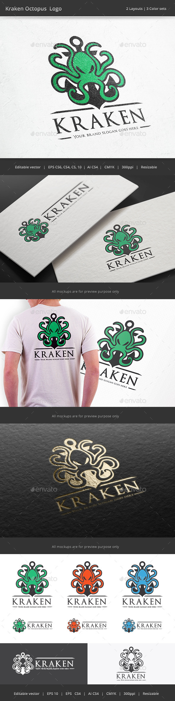 GraphicRiver Kraken Octopus 9891841