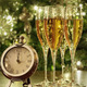 Champagne glasses, clock with lights - PhotoDune Item for Sale