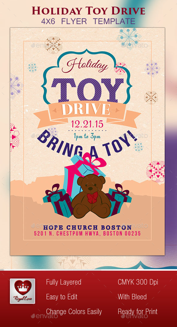GraphicRiver Holiday Toy Drive II 9893335