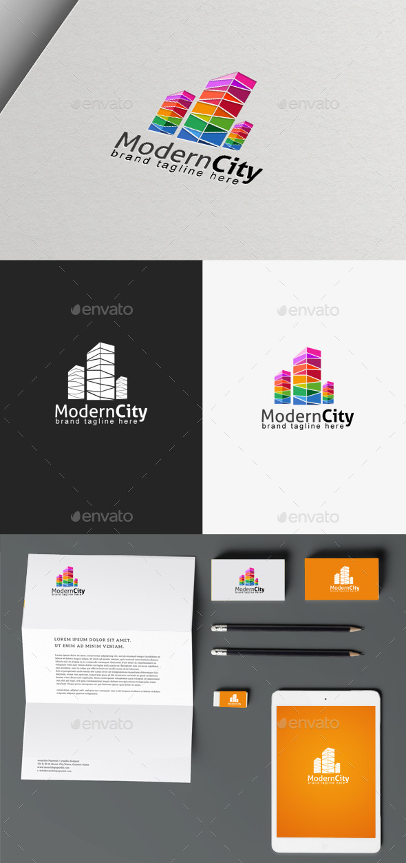 GraphicRiver Modern City Logo 9865873