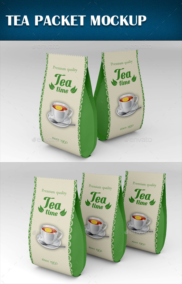 GraphicRiver Tea Packet Mockup 9893493