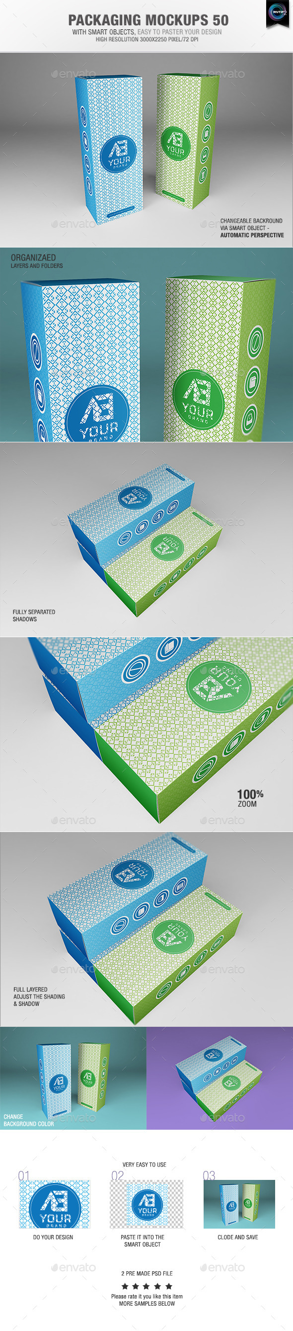GraphicRiver Packaging Mock-ups 50 9893581