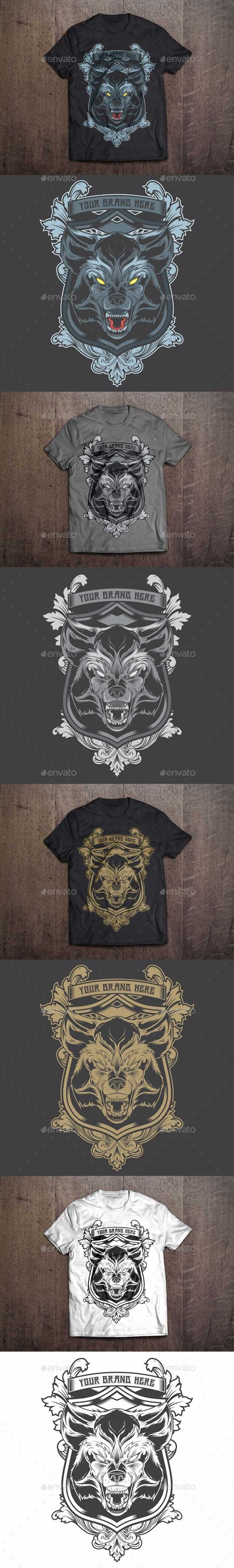 T-Shirt Illustration Wolf Theme
