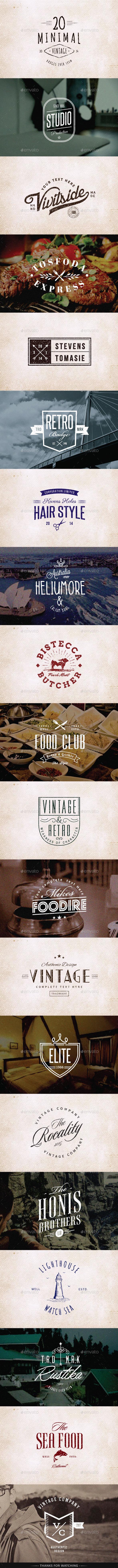 GraphicRiver Retro Vintage Minimal Logos Vol.01 9893633
