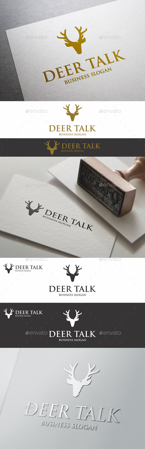 GraphicRiver Deer Talk Logo Template 9893722