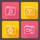 Vector Flat Folder Icons - GraphicRiver Item for Sale