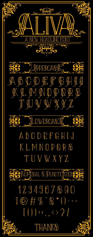 GraphicRiver Aliva Font & Bonus Poster Vector 9893959