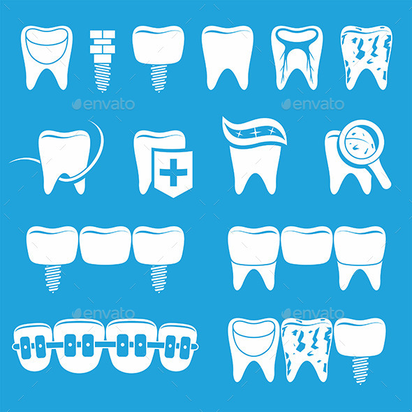 GraphicRiver Vector Set of Dentist Icons 9893994