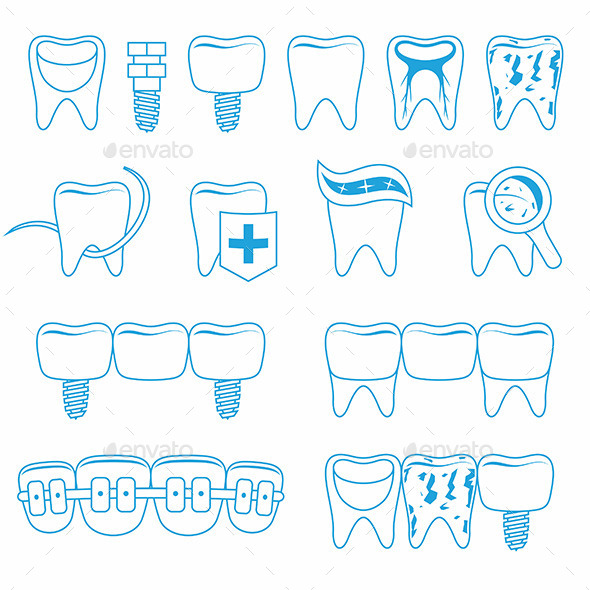 GraphicRiver Vector Set of Dentist Icons 9894001