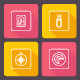 Vector Flat Media Icons  - GraphicRiver Item for Sale