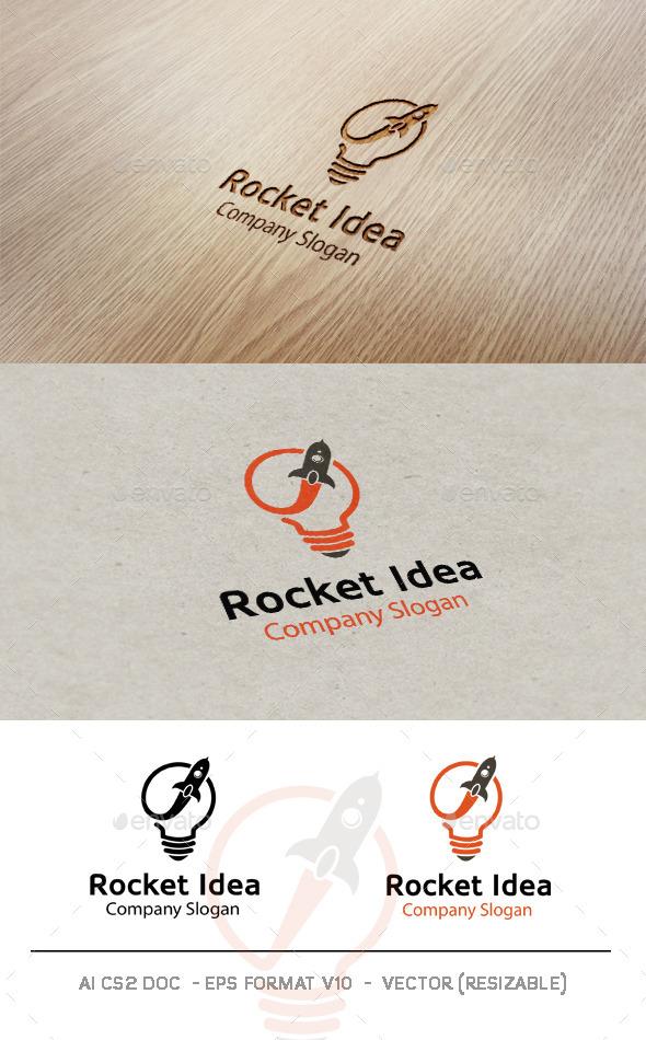 GraphicRiver Rocket Idea Logo 9894051
