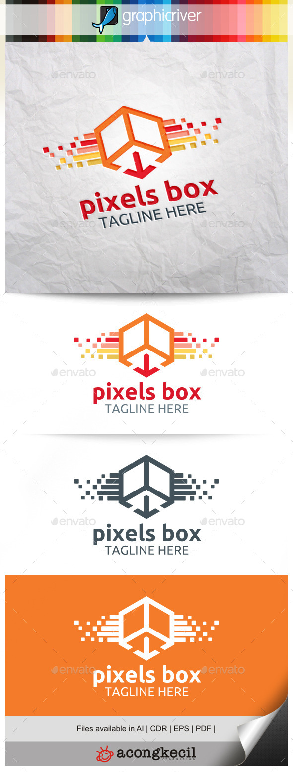 GraphicRiver Pixels Box 9894067