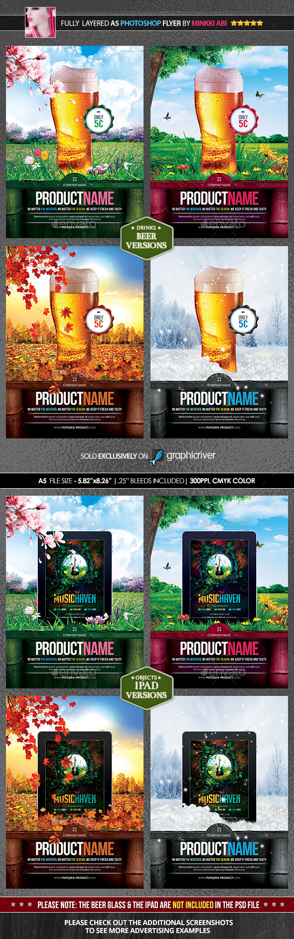 4 Seasons Product Promotion Poster Flyer