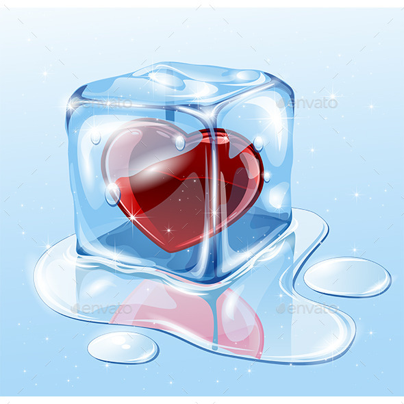 GraphicRiver Ice Cube with Heart 9894154
