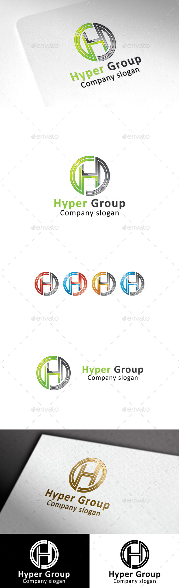 GraphicRiver Hyper Group & H letter 9894316