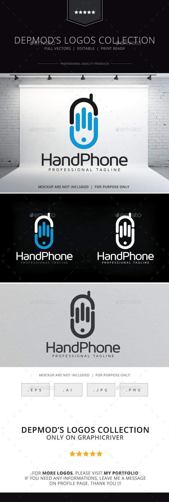 GraphicRiver Hand Phone Logo 9894341