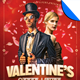 Valentine's After Hours Hipster Flyer Template - GraphicRiver Item for Sale