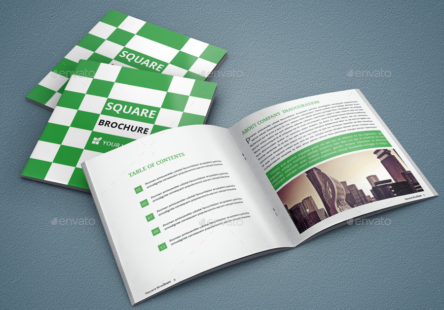 Elegant square brochure template by optimisticforhad for Elegant brochure templates