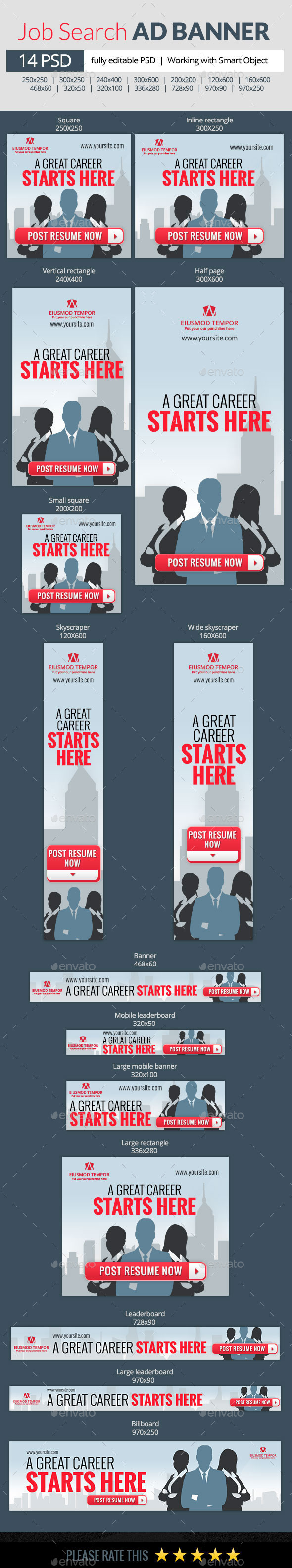 GraphicRiver Job Search web banners 9894584