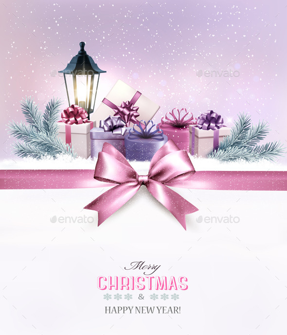 GraphicRiver Christmas Gift Boxes in Snow 9894616