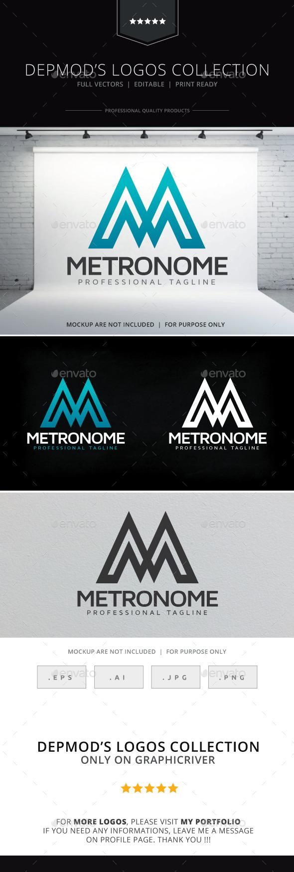 GraphicRiver Metronome Logo 9894647
