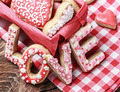 baked cookies with the word love - PhotoDune Item for Sale