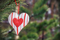 Toy heart hanging on a winter tree - PhotoDune Item for Sale