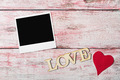 love letters carved and photo frame - PhotoDune Item for Sale