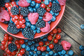 Mix of fresh berries in a plate - PhotoDune Item for Sale