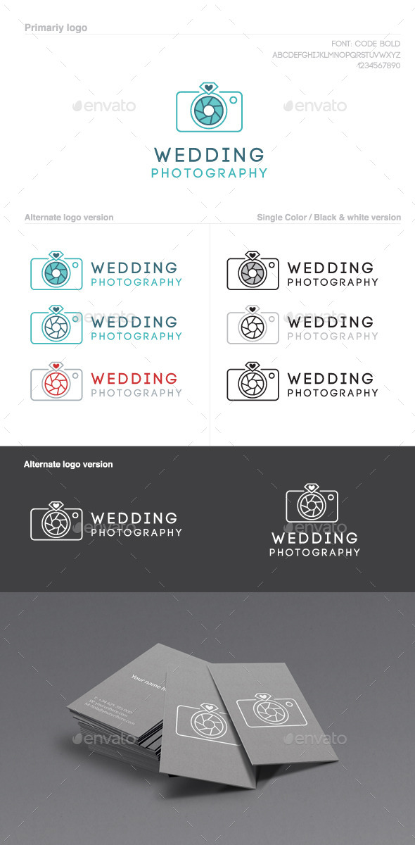 GraphicRiver Wedding Photography Logo 9895132