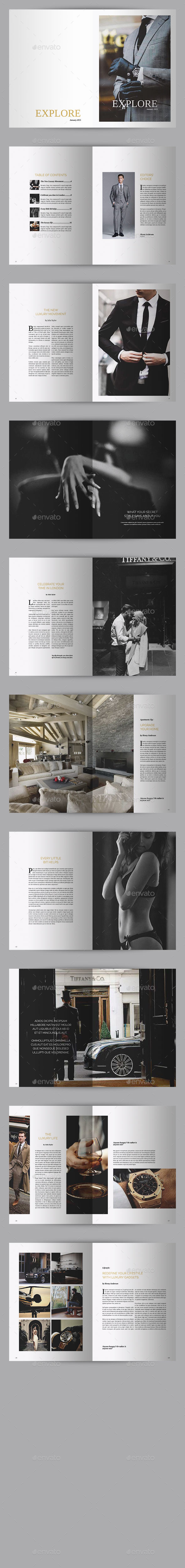 GraphicRiver Explore Luxury Magazine 9895139