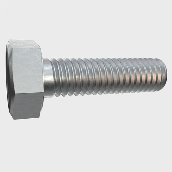 Hexagon Head Screw - 3DOcean Item for Sale