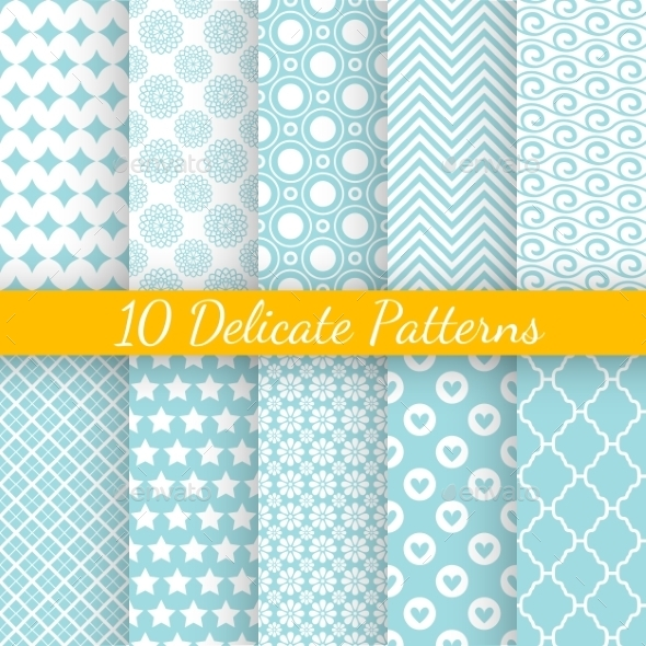 GraphicRiver Vintage different vector seamless patterns 9895218