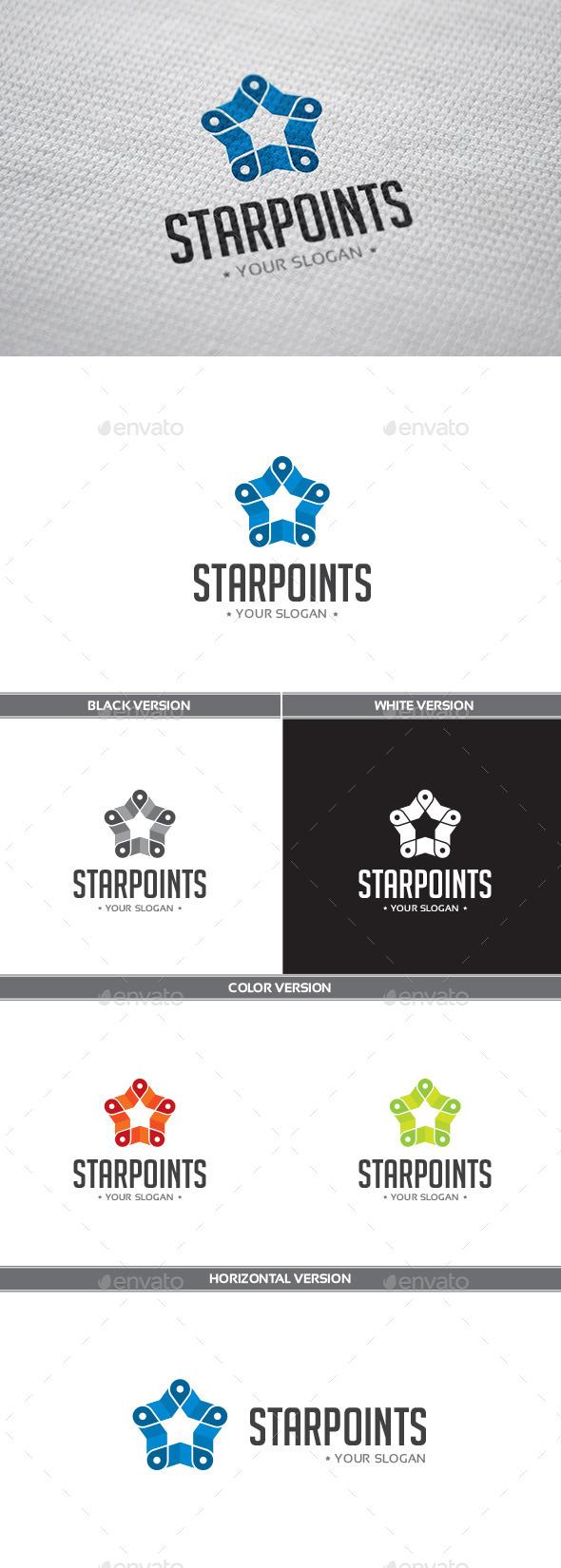 GraphicRiver Starpoints Logo 9895221
