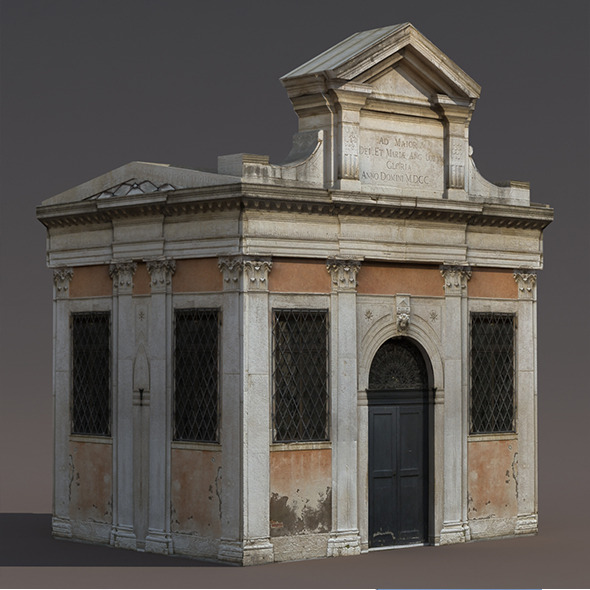 3DOcean Church Portal Low Poly 3D Model 9895264
