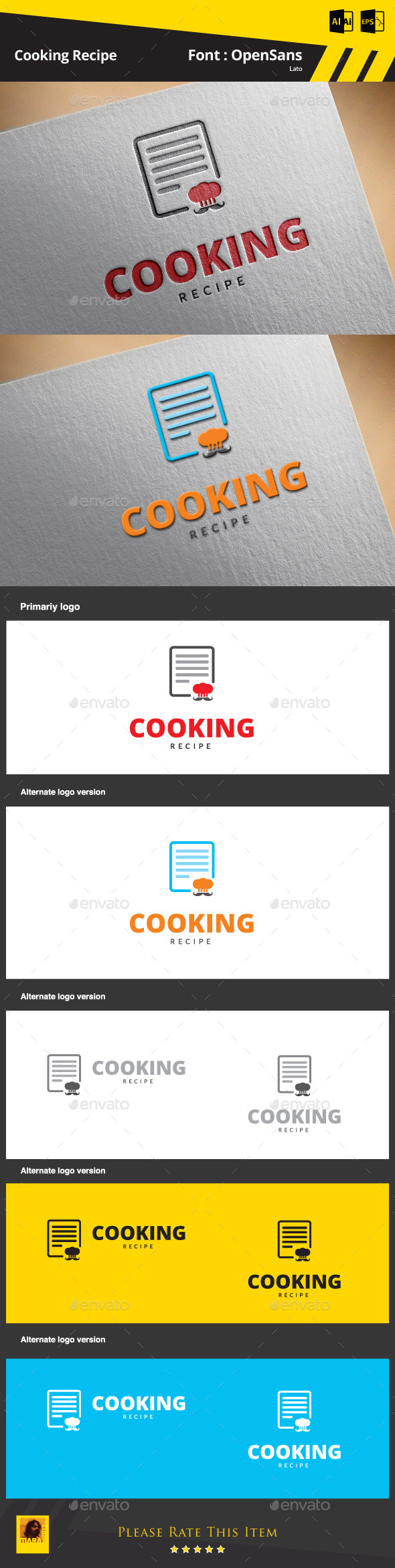 GraphicRiver Cooking Recipe Logo Template 9895265