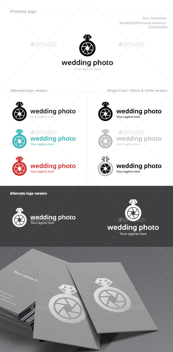 GraphicRiver Wedding Photo Logo 9895273