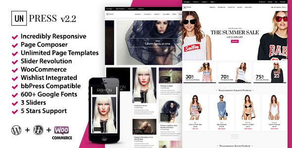 unPress Magazine - Elegant & Minimalistic - Woocommerce - News / Editorial Blog / Magazine