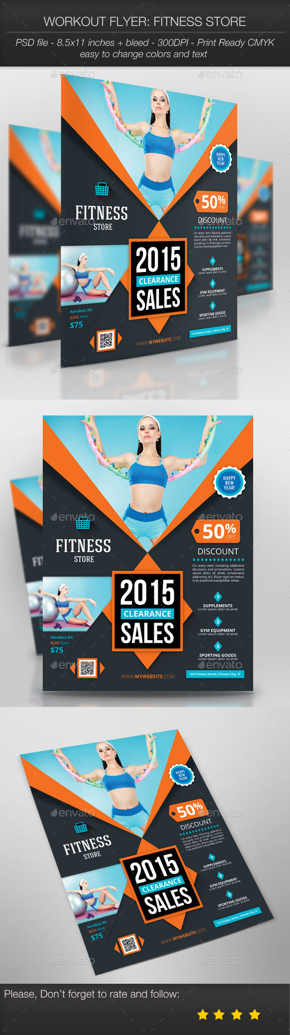 GraphicRiver Workout Flyer Fitness Store 9895429