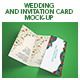 Wedding And Invitation Card Mock-Up - GraphicRiver Item for Sale