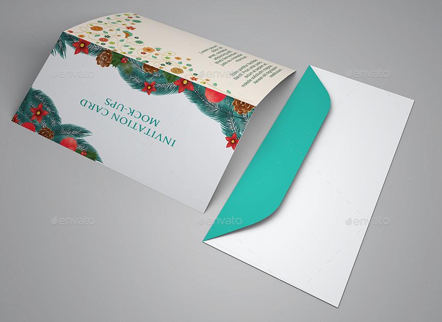 wedding and invitation card mock