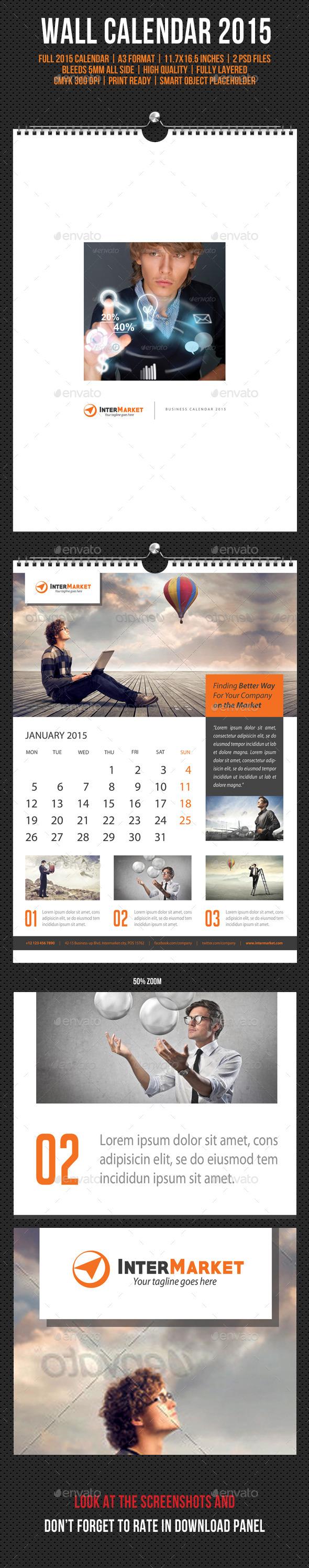 Corporate Wall Calendar 2015 V05
