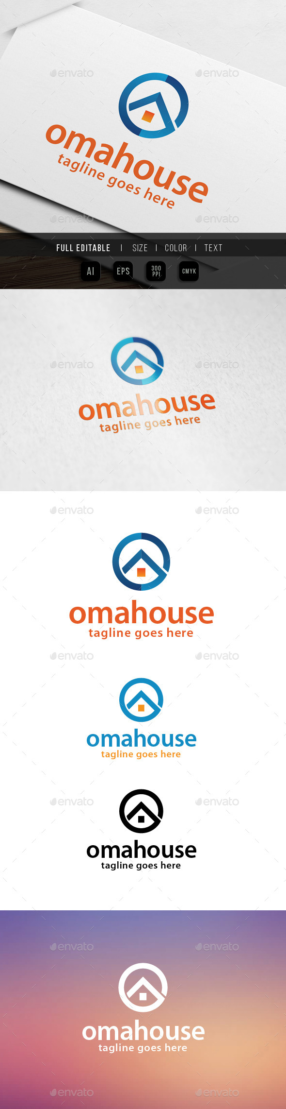 GraphicRiver Home House Letter O 9895501